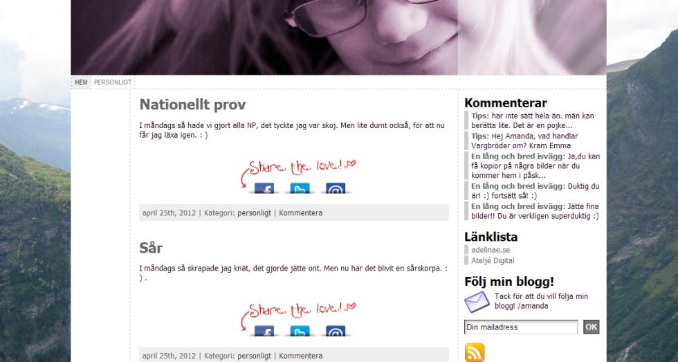 Amandae.se - blog