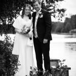 Brudparet vid Göta Kanals strand