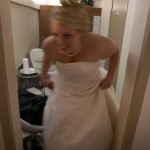 Bruden färdig för dagens äventyr