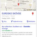 Syns bättre på Google - Eurosko mobilsida