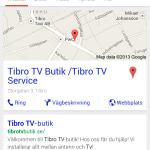 Syns bättre på Google - Tibro TV Service mobilsida