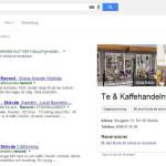 Syns bättre på Google - Record Te- och Kaffehandel SERP