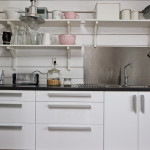 Ett nyrenoverat kök - interiör