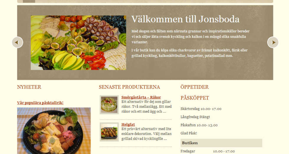 Jonsboda Gård - gårdsbutik catering